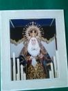 Fotografía de la Virgen de los Dolores de 26x31cm.
